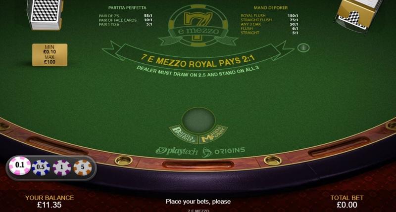 7 e Mezzo table