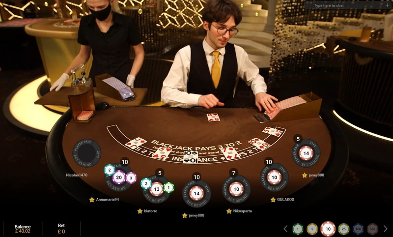 Blackjack betting Behind