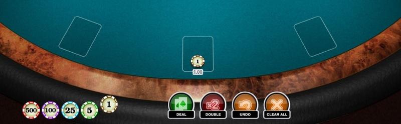 Blackjack Placing bet