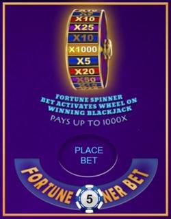 Blackjack Fortune Spinner Side Bet