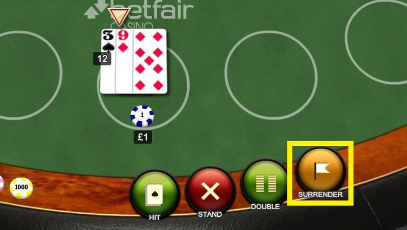 Blackjack Surrender Option