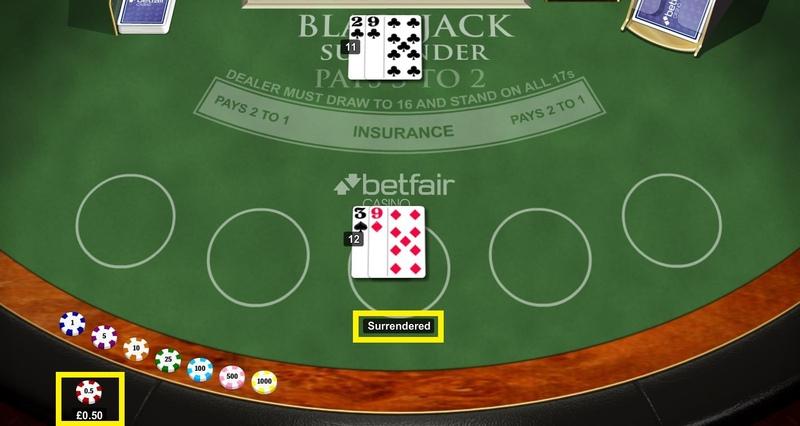 Blackjack Surrendered