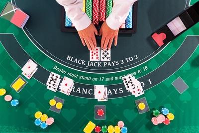 Blackjack Table Birds Eye View