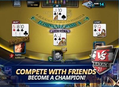Online Blackjack Tournament Interface