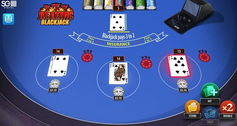 Blazing 7s Blackjack Deal