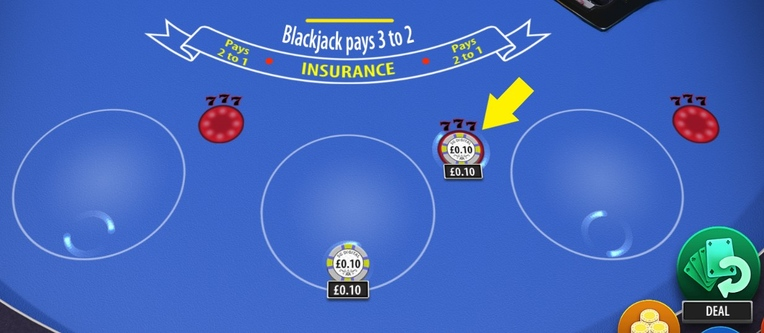 Blazing 7s Blackjack Side Bet