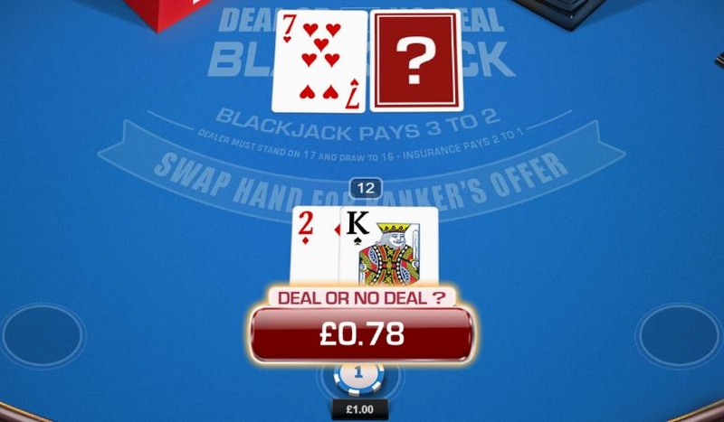 Deal or No Deal Blackjack Offer