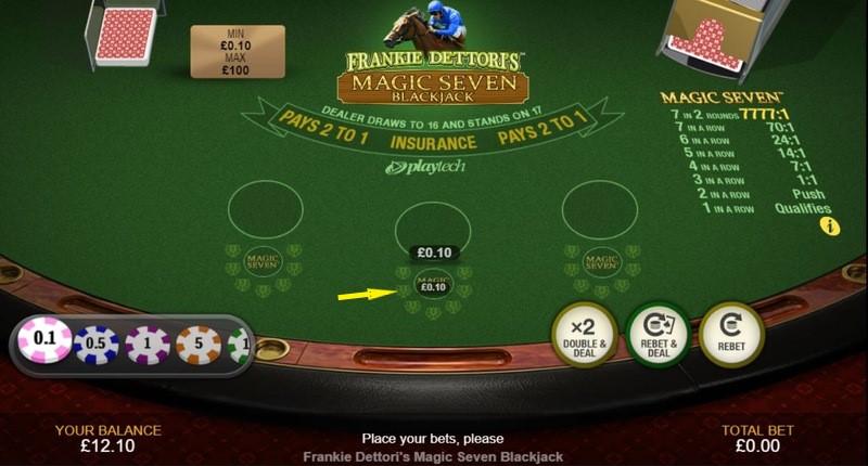 Frankie Dettoris Magic 7 Blackjack
