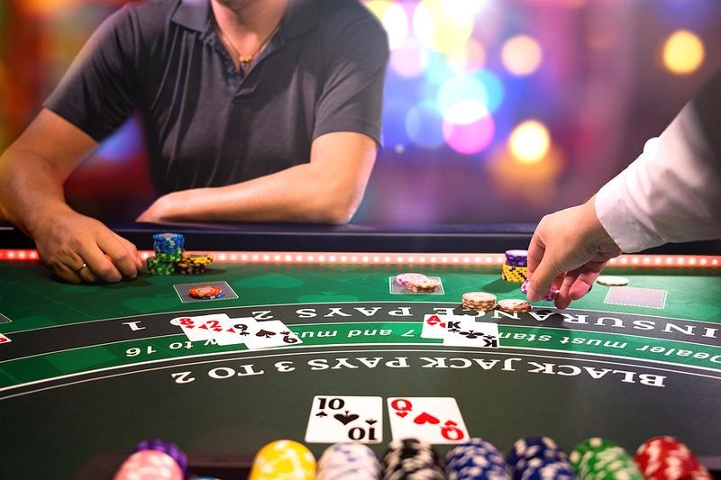 Man Playing High Stakes Blackjack