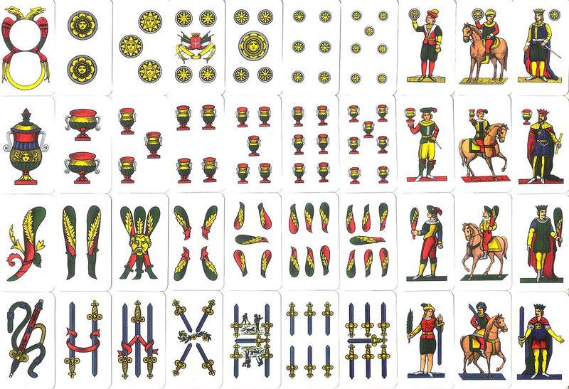Neapolitan Deck of Cards