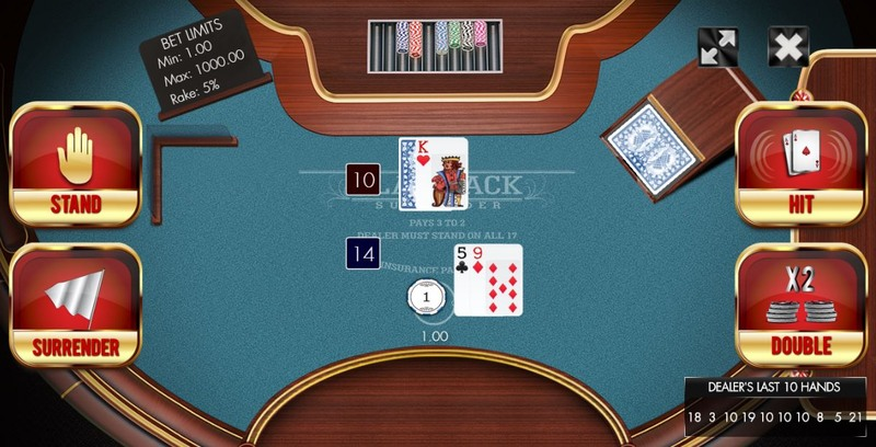 Blackjack Surrender Option