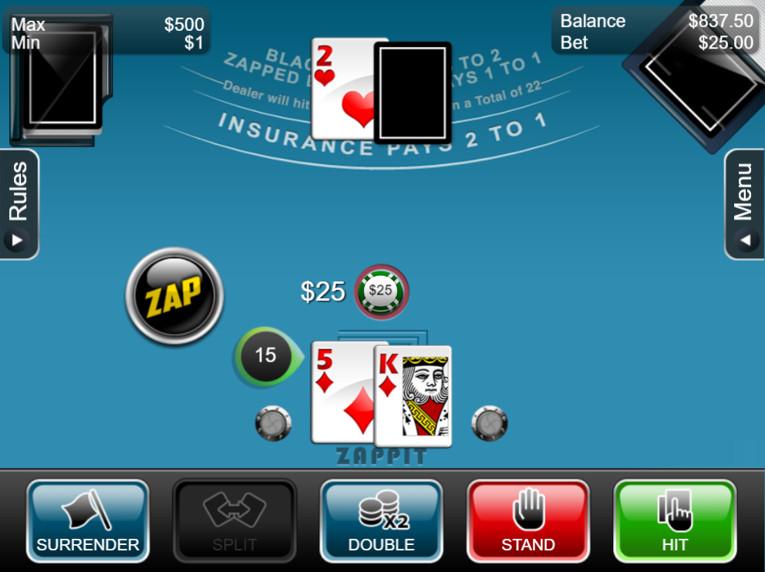 Zappit Dealt Cards